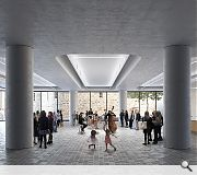 A ground floor foyer will house the public functions of the venue and act as a 'public room' for the city