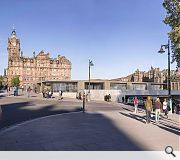 The Princes Street frontage will be enhanced with new units and a formalised events space