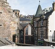 A roofscape of pitched gables will rise up from the Cowgate to meet the India Buildings