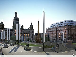 Latest George Square facelift proposals unveiled amidst RIAS/GCC infighting
