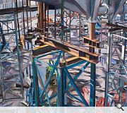 Watercolour images provide a different perspective on the Museum build