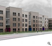 Borrowing from tenement typology the new homes will reinstate the building line along Pollokshaws Road