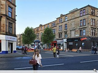 Glasgow City Council push £9m Byres Road public realm enhancement