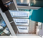 Ayrshire College is centred around a generous full height atrium