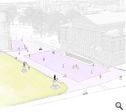 Enhanced paving and lighting will improve the setting of Paisley Abbey and the Town Hall
