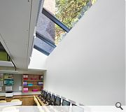 Lower classrooms are illuminated via rooflights