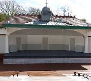 The bandstand provides seating for up to 3,000 people