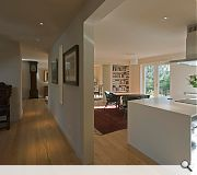 Walls have been knocked through to create open plan living areas