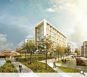 A green landscape will be woven around the riverside setting