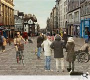 Indicative concept visualisations have been produced by Jacobs, here showing The Royal Mile