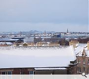 Glasgow's south side looking resplendent in the snow