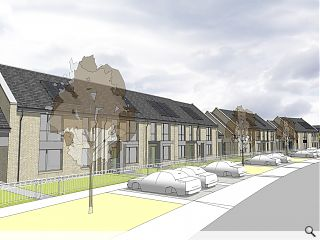 84 terraced Easterhouse homes lined up