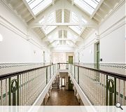 Key features such as the main atrium have been saved for posterity