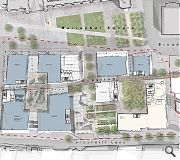 Extensive landscaping will knit together the historic street pattern