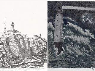 Architectural drawings document Stevenson Lighthouses