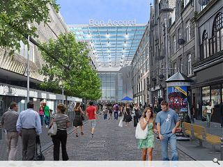 George Street canopy fronts Aberdeen mall expansion