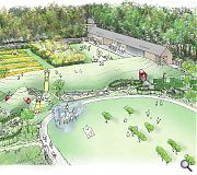 The new centre and gardens aim to draw families to the historic home