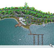 A new marina will be the ace in the sleeve of the project, acting as a honey pot for sailors
