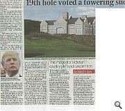 The Scotsman reported the gushing praise of architects body  RIAS toward Trump's Menie offering