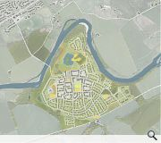 The masterplan includes a mix of low and medium density housing as well as an enterprise park