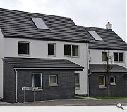 A mixture of roof slates and designs add to diversity