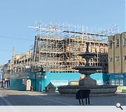 The structure has been shrouded in unsightly emergency scaffolding for two years