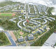 Green spaces feature prominently in the plans, modelled on the Commonwealth games athletes village