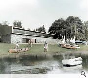 Sutherland Hussey's clubhouse retreats to higher ground, leaving a separate race office exposed at the waters edge