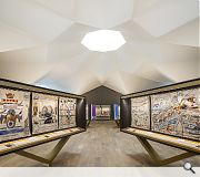 Folding walls slot into the origami ceiling