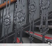 The staircase has been returned to its original splendour