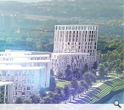 A 13-storey hotel would dominate the business park