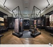 Historic display cases have been renovated to contemporary standards