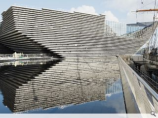 Kengo Kuma lauds V&A Dundee during site visit