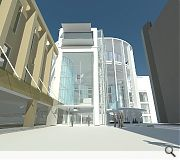 The new atrium space will provide a joint entrance space to the concert hall and shopping mall