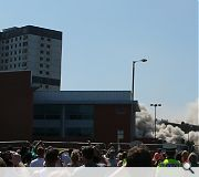 Demolition took place at 2pm on Sunday