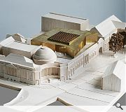 A brass model of the rooftop extension has been created to visualise how the gallery could look