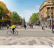 The physical link aims to knit the west end back into the city centre