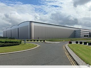 Giant distribution warehouse & offices prepped for Robroyston