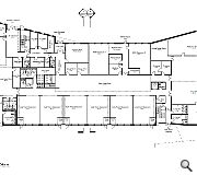 A ground floor plan of the new school