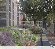 A courtyard garden will extend to a neighbouring health centre