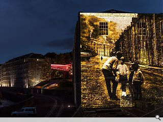 New Lanark sets shining example with sound and light show