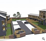 Homes will be arranged around a central courtyard