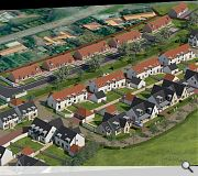 Properties will mark the transition from town to countryside