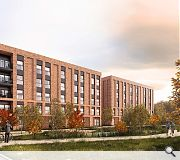 Five storey apartments will form a hard urban edge to the development