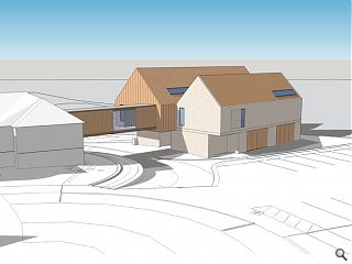 Double-pitch support block to extend Strathcarron Hospice