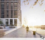 Varying tones of brick will be used to differentiate between apartment blocks