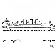 An early sketch illustrating the genesis of the ship skyline concept