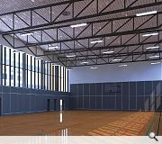 A single storey link will connect the hall with the existing school