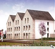 Larger scale townhouses are located close to the retained block of flats