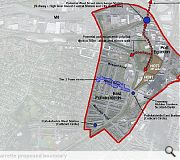 The proposed boundary for the East Pollokshields and Port Eglinton charette